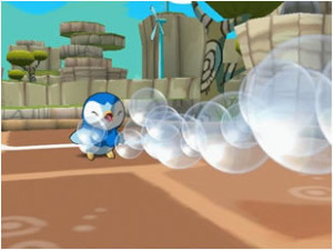 Piplup ejecuta Bubblebeam