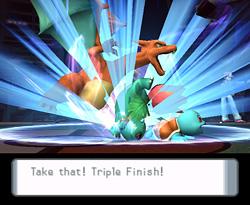 ¡Usen Triple Finish!