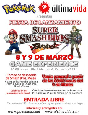 Fiesta de Lanzamiento Smash Bros. Brawl