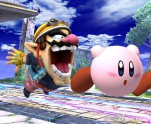 Wario se quiere comer a Kirby