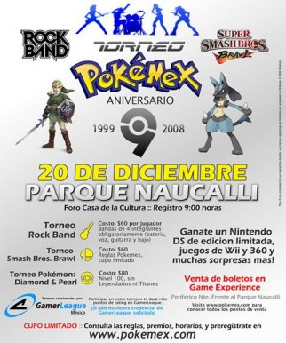 Torneo Pokémex Noveno Aniversario