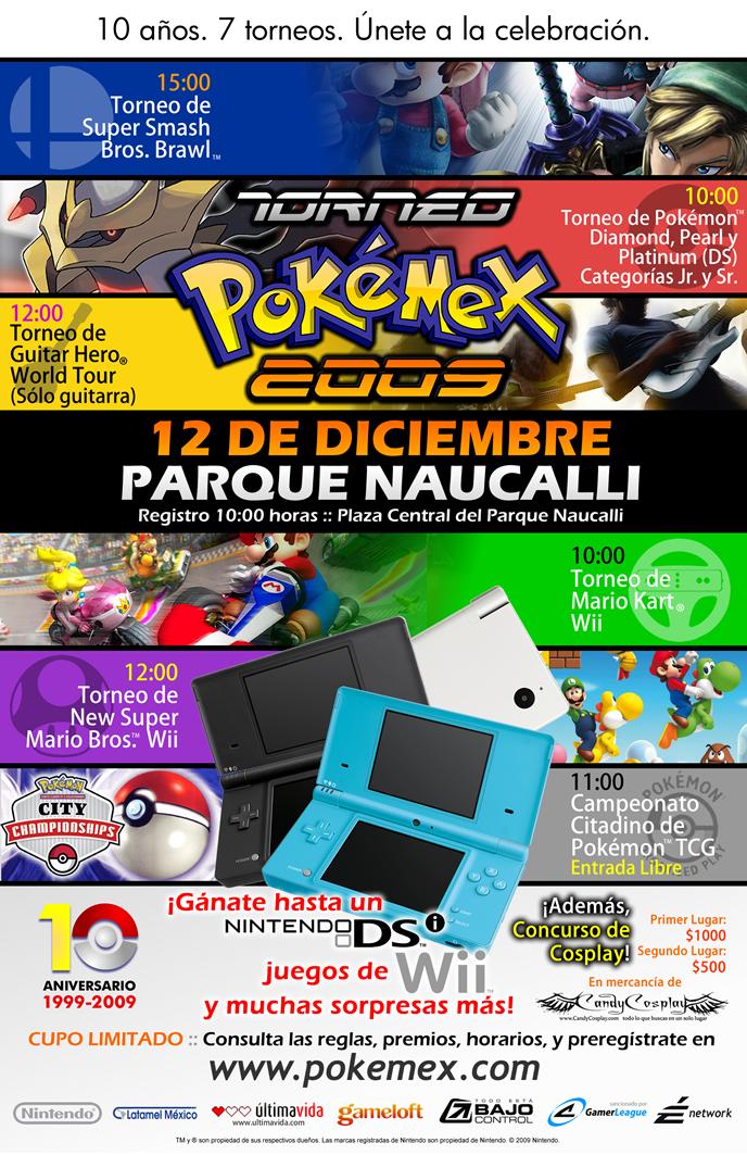 ¡El Torneo Pokemex 2009 cambia de foro dentro del parque Naucalli!