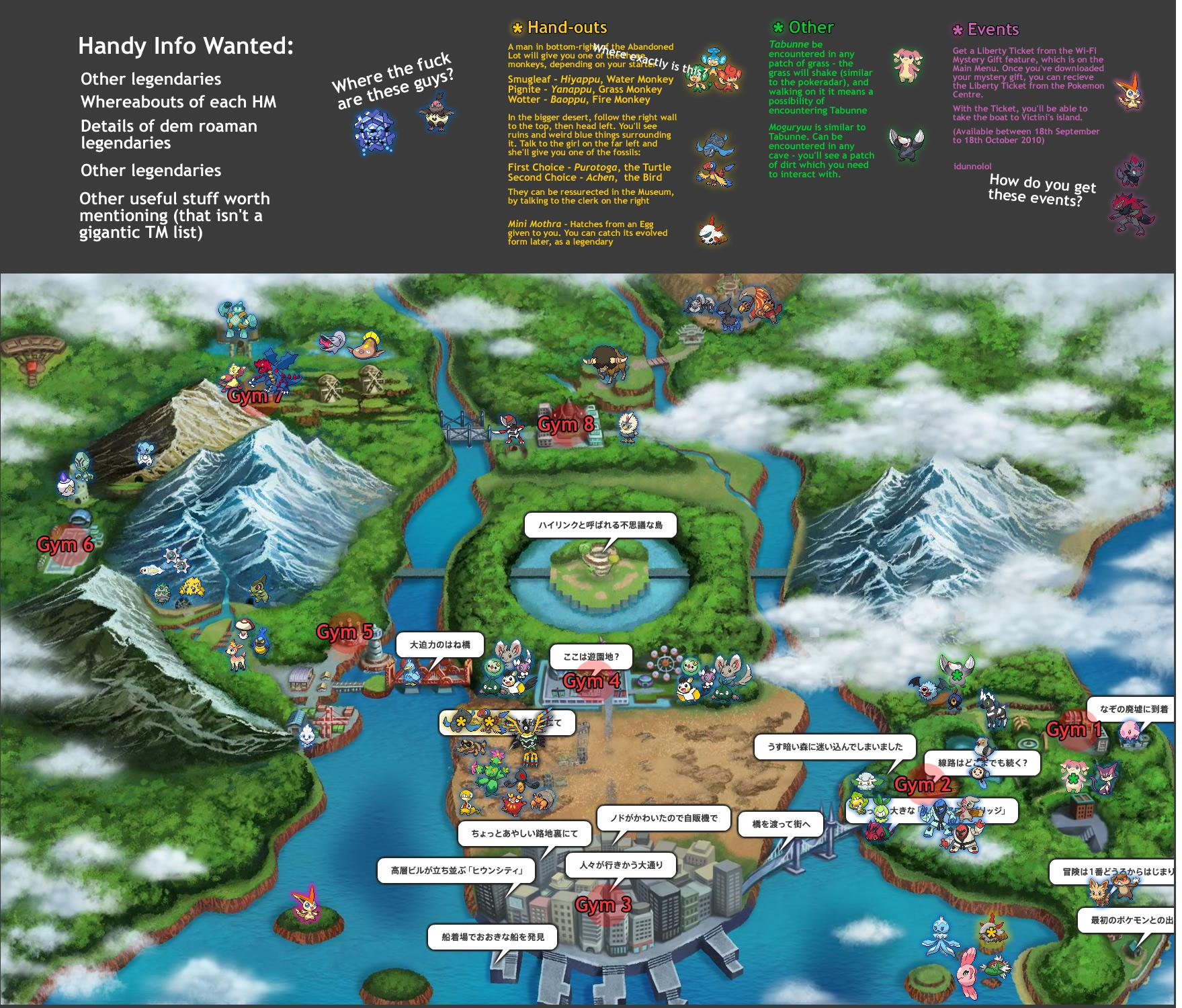 Pokémon Black & White World Map