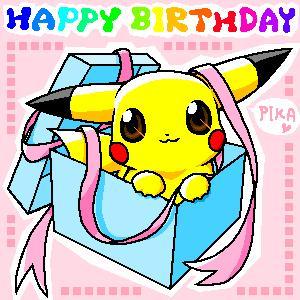 Feliz 15 aniversario Pokémon. Feliz cumpleaños MB.