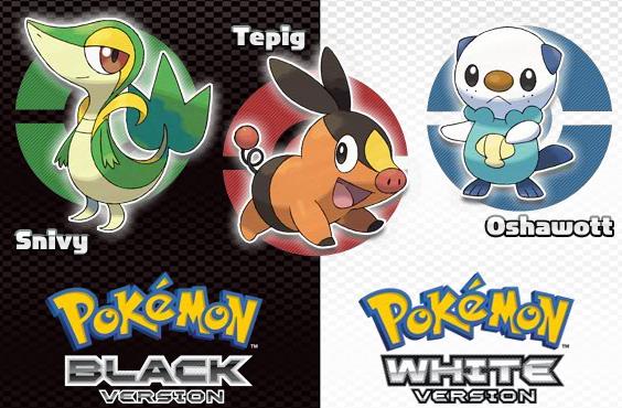 ¡Bienvenida 5ta generación! Bienvenidos Pokémon Black & White!