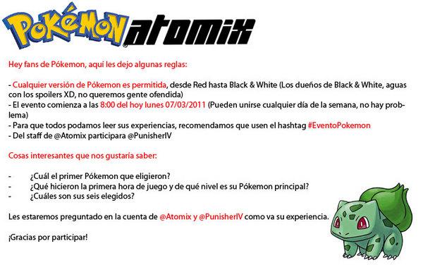 #EventoPokemon de Atomix en Twitter