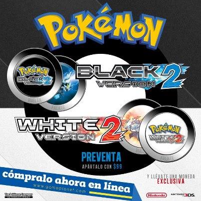¿Donde hacer la preventa de Pokémon Black 2 & White 2?