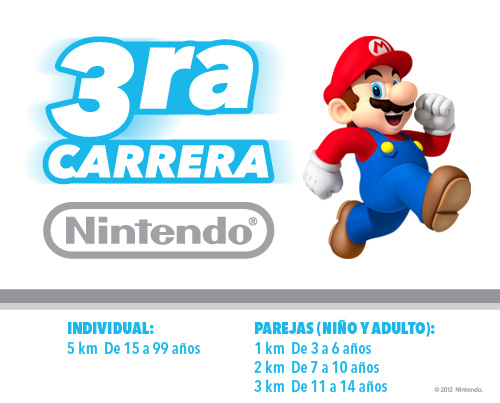 Los invitamos a la 3ra Carrera Nintendo